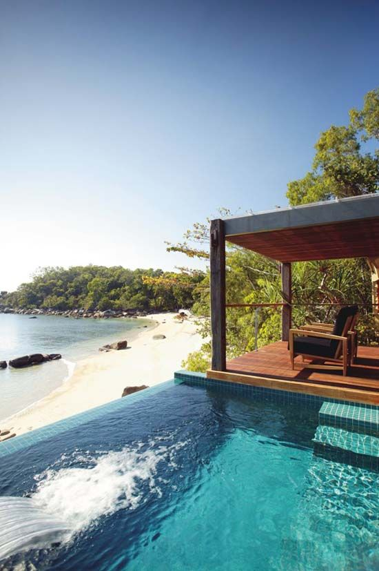 Top saved honeymoon destinations include Australia. Check out this luxury resort in Queensland.