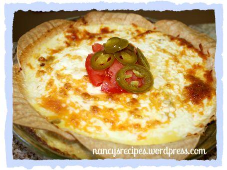 Fiesta Corn Tortilla Quiche