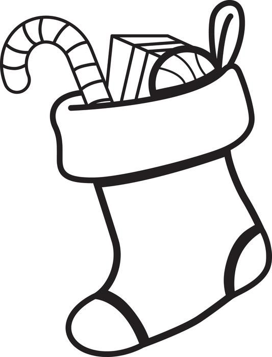 Christmas Stocking Coloring Page 1 Printable Christmas Coloring