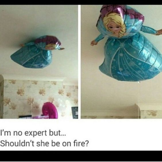 Really did they seriously just go there and are we just going to assume that anything on the ceiling should be burned