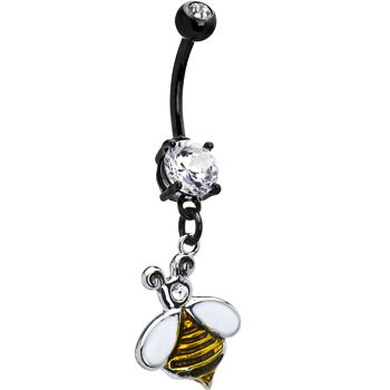 Bumble Bee Belly Ring   Body Candy Body Jewelry