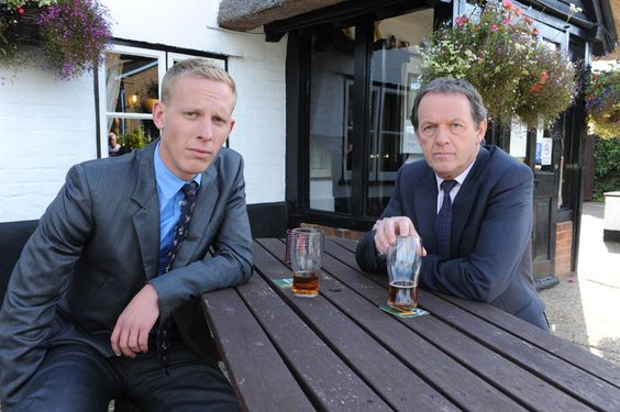 Lewis (Kevin Whately) and Hathaway (Laurence Fox) in Inspector Lewis