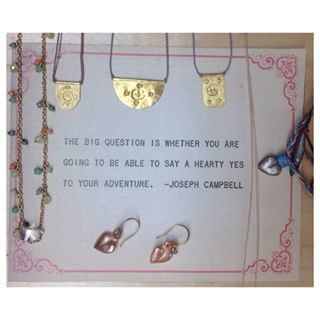 Well, are you? Musings from our jewelry case this week. ✨ #josephcampbell #jewelry #mothersday2015 #wednesdaywisdom