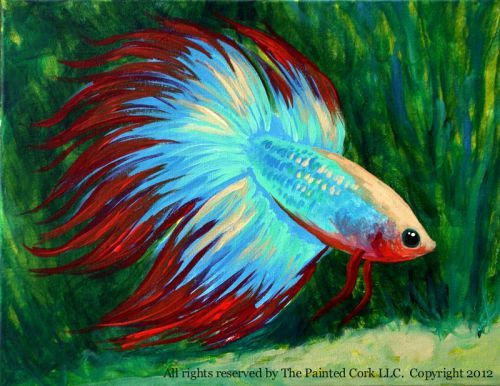 Google betta fish and fish paintings on pinterest for Betta fish painting