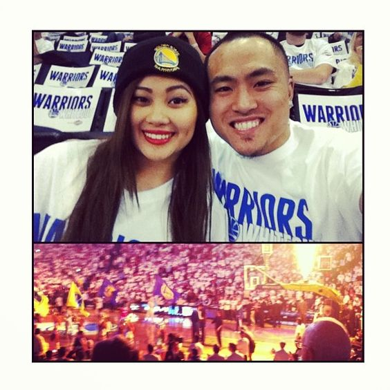 @trinaroma: He thought I was working 8-4 & when I told him I just got home, he didn't know I really meant my house in Union City. Then I surprised him with bombass seats to the Warriors vs. Clippers game!! #yee #letsgodubz #warriorsground #hiimhome #whiteout