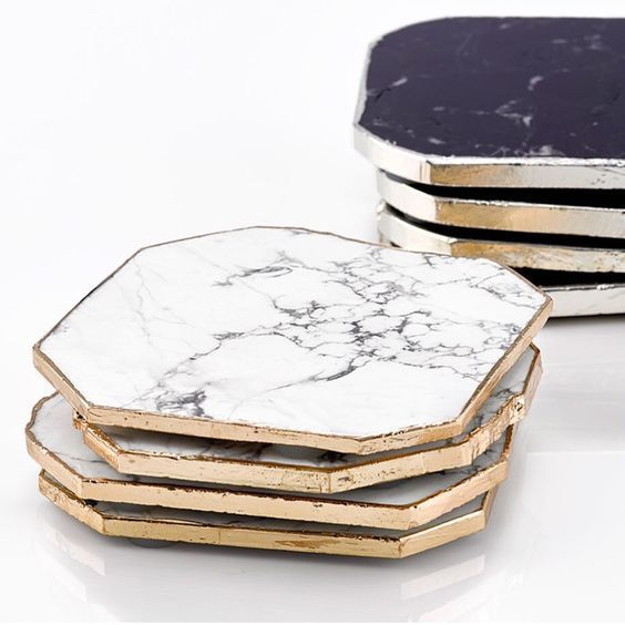 12 Chic Ways To Incorporate Marble Into Your Home Decor Coaster Furniture Marble Coasters