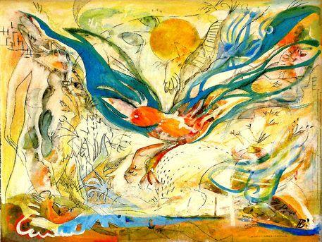 'Königlicher Anflug +' by Holger  Barghorn on artflakes.com as poster or art print