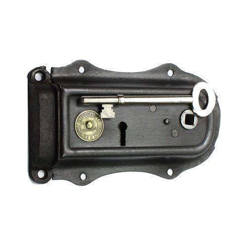 Decorative Steel Cased Rim Lock Reclaimed Steel Decor Door Furniture