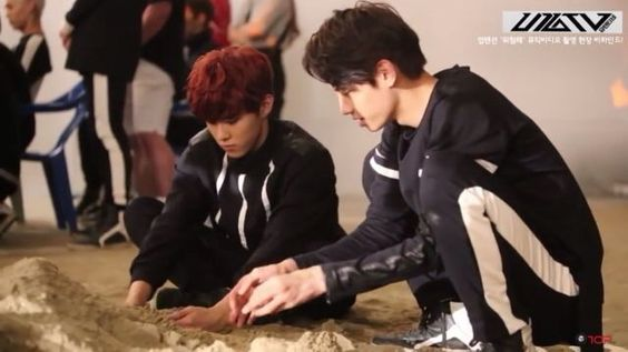 UP10TION Wooshin and Wei playing around UP10TION Pinterest Kpop