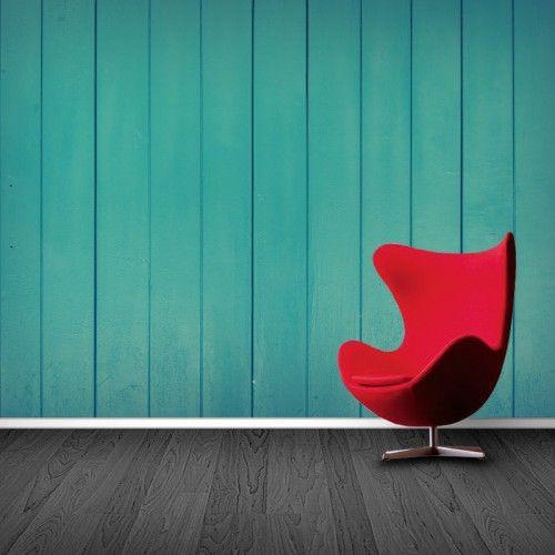 Fotobehang Turquoise Houten Planken | Maak het jezelf eenvoudig en bestel fotobehang voorzien van een lijmlaag bij YouPri om zo gemakkelijk jouw woonruimte een nieuwe stijl te geven. Voor het behangen heb je alleen water nodig!   #behang #fotobehang #print #opdruk #afbeelding #diy #behangen #hout #houten #planken #houtenplanken #turquoise