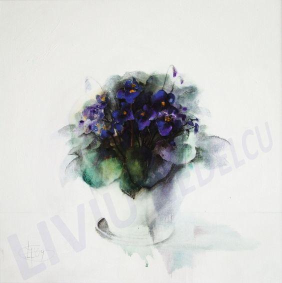 Title: Violete de Parma / Size: 90x90cm / Style: Acrylic on Canvas / Year: 2009