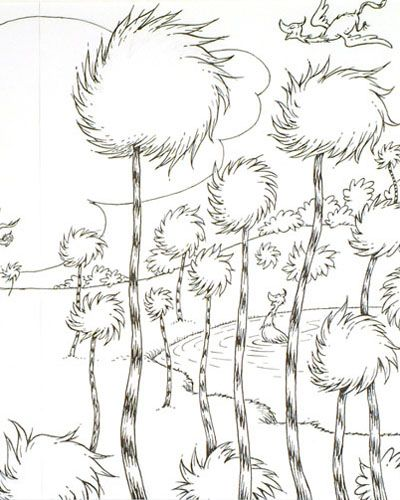 lorax coloring book pages - photo#30