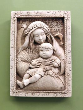 "This amazing #MaryEngelbreit Collection ""Madonna & Child"" Plaque from #CarruthStudio"
