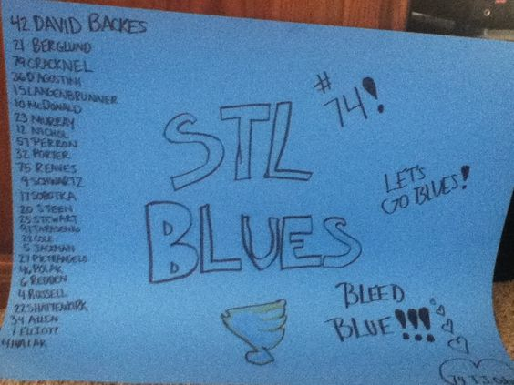 YEAAHHH my team!! STL Blues. Bleed blue.