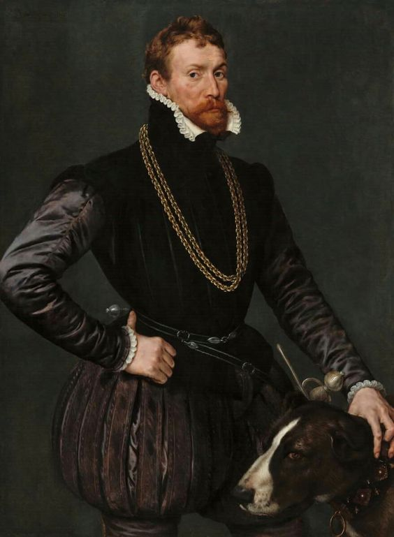 """""""Portrait of a Gentleman,"""" 1569,. By Antonio Mor. oil on canvas, National…:"""