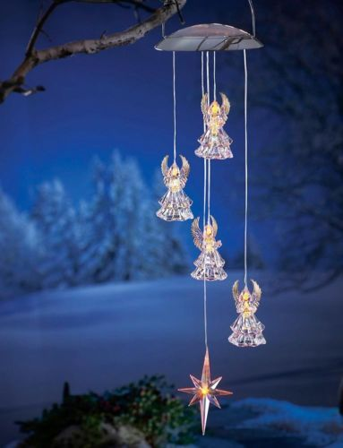 Beautiful Solar Lighted Angel Mobile Outdoor Holiday