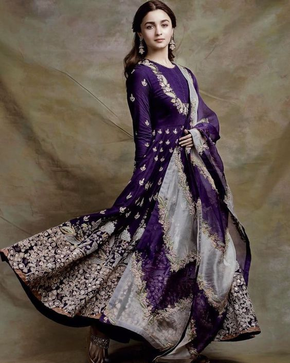 Love this purple Anarkali by Anamika Khanna. #Frugal2Fab