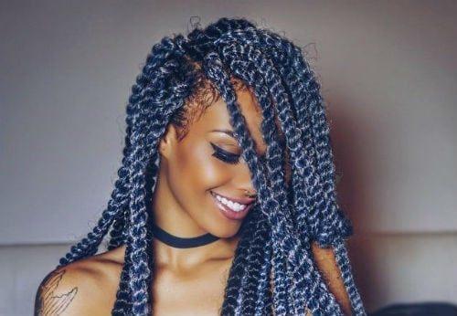 Yarn Twist 4 Hairstyles For Kenyan Women Kenya Is Buzzing Now More Than Ever Before Kenyan Women Ar Hair Styles Yarn Braids Styles Braids With Extensions