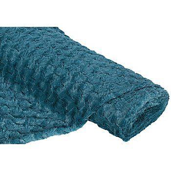 """Tissu imitation fourrure """"chic"""", pétrole, tissu ultra doux, pour des vestes, chapeaux, avec dos lisse.Composition : 100 % polyesterPoids : env. 300 g/m²Largeur : 155 cmEpaisseur : 10 mm"""