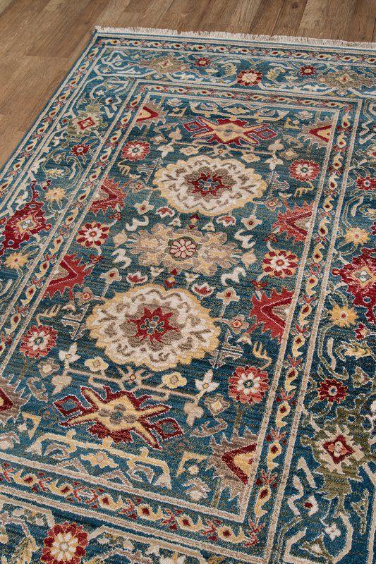 Ebner Power Loom Blue Rug Area Rugs Rugs On Carpet Colorful Rugs