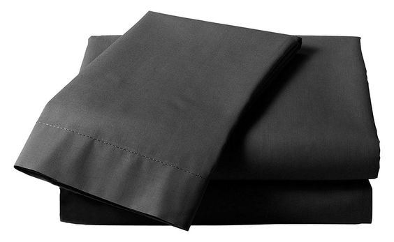 Black Plain Percale Fitted Sheet