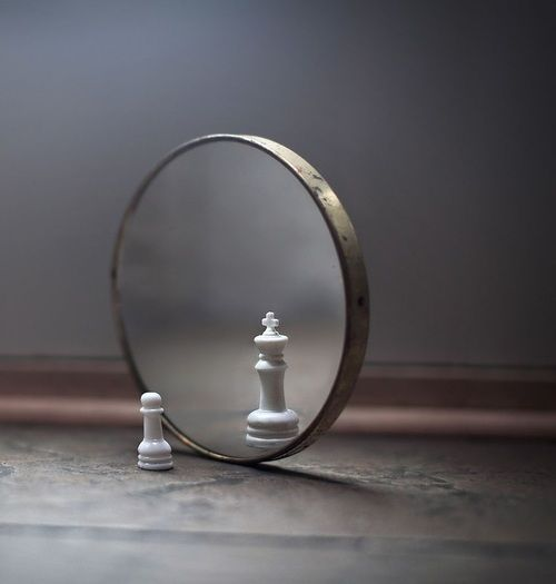 Chess piece parable self image in mirror see yourself not for Mirror yourself