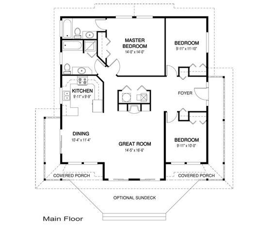 Heron Floor Plan 1357 Square Feet. Bigger Than Most