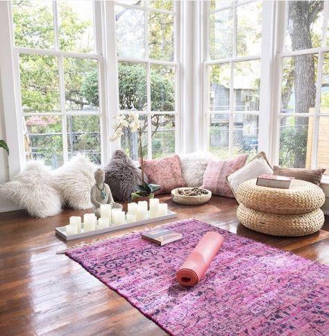 Spring Inspired Meditation Room Decor Yoga Room Design Yoga Room Decor Home Yoga Room