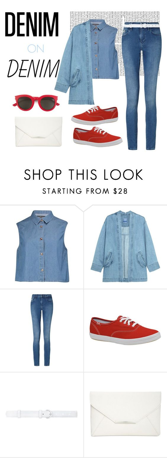 """""""Outfit #35"""" by fashionstar123456789 ❤ liked on Polyvore featuring Boohoo, Steve J & Yoni P, Calvin Klein, Keds, Oscar de la Renta, Style & Co., Yves Saint Laurent and Denimondenim"""