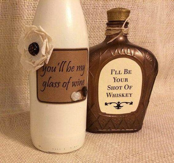 Gonna have to make these since I always have empty alcohol bottles!                                                                                                                                                     More