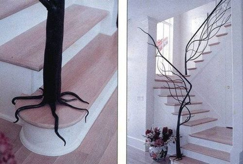 interior: Tree Railing, Tree Banister, Stair Railing, Dream House, Dream Home, House Idea, Tree Stair, Staircase Railing