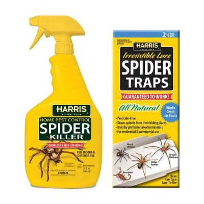 Harris 32 oz. Spider Killer and Spider Traps Value Pack-HSK-24VP - The Home…