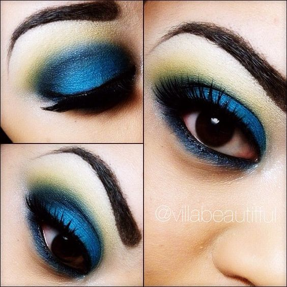 I was inspired by a makeup pic that I found on pinterest.  I love being inspired by others for new color combinations. #MACCosmetics #eyeshadows  Mylar (highlight) Chrome Yellow (above crease) Contrast (crease) Electric Eel (lid) #makeup