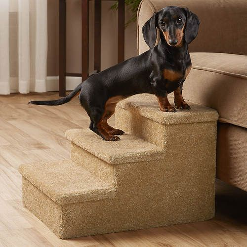 Carpeted Pet Steps Stoneberry Pets Smaller Pets And Older Animals With Limited Mobility Can Get A Boost With Pet Steps Pet Accessories Dog Owners Dog Steps