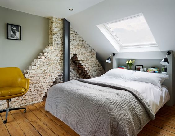I like the back board with the lights. I also suspect the chimney breast in my house may look like this.