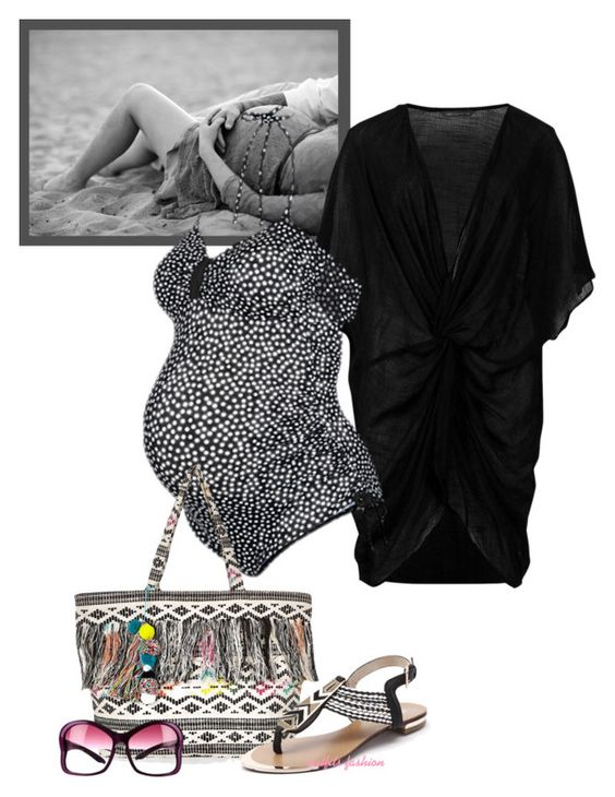 - Beach Maternity Contest - by rosipolooyas on Polyvore featuring moda, M&S Collection, George and Prada