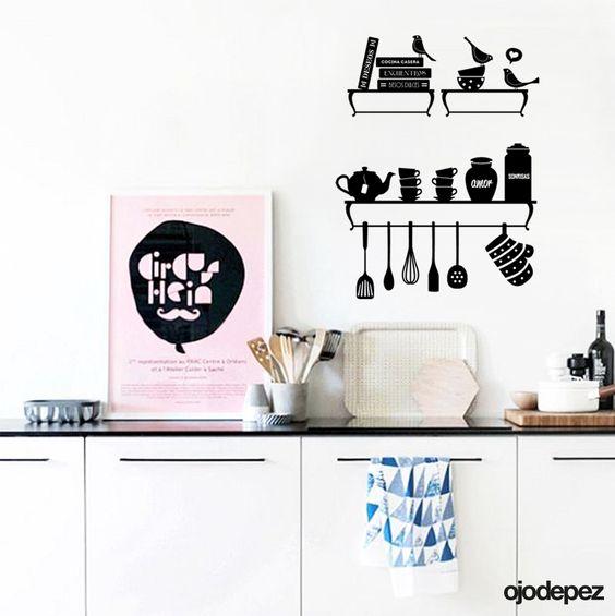 Home 037 objetos de cocina ojodepez vinilos - Objetos de cocina ...