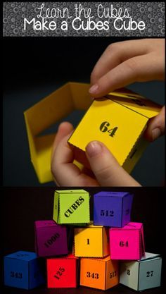 Awesome printable paper cube for learning and reviewing the cubes! Too cool!