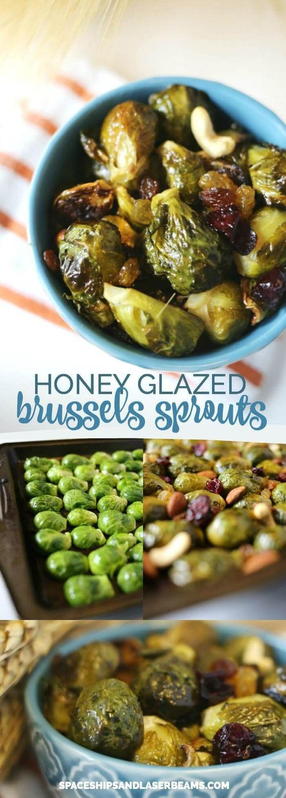 Honey Glazed Brussel Sprouts via @spaceshipslb