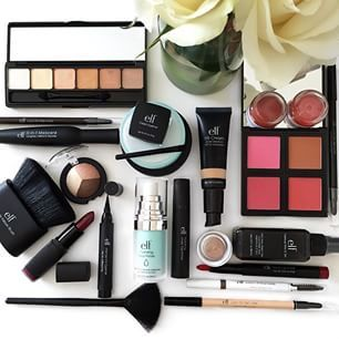 Use E.l.f. Cosmetics to get almost every product for under $10. | 23 Genius Tricks To Save Money On Beauty Products | Everything is pretty much under $10. Find it anywhere from Five Below to Target. They have THE BEST eyebrow kit you will ever find, and their makeup brushes are amazing.