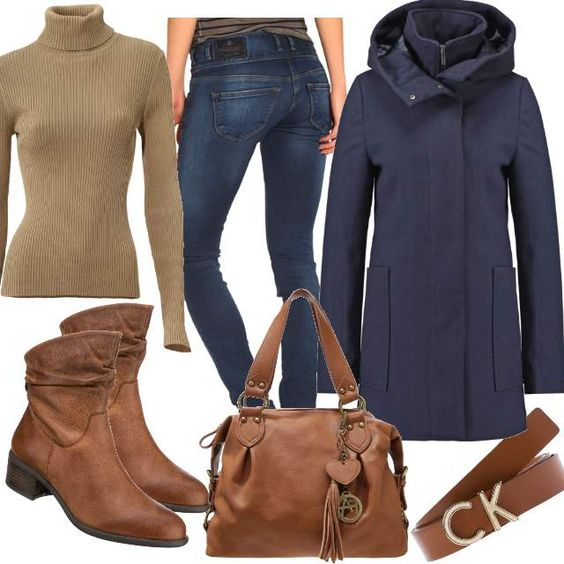 Cognac meets Blue #fashion #mode #look #style #trend #outfit #sexy #luxury #stylaholic