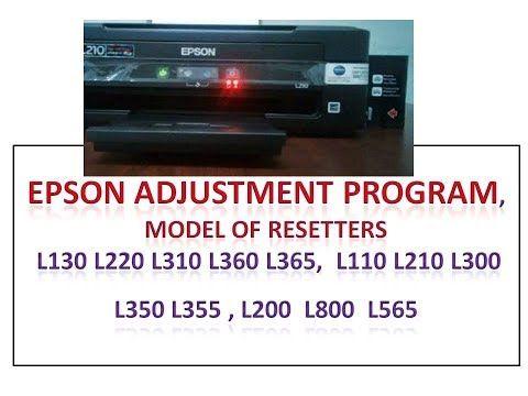 Epson Adjustment Program, L130 L220 L310 L360 L365, L110