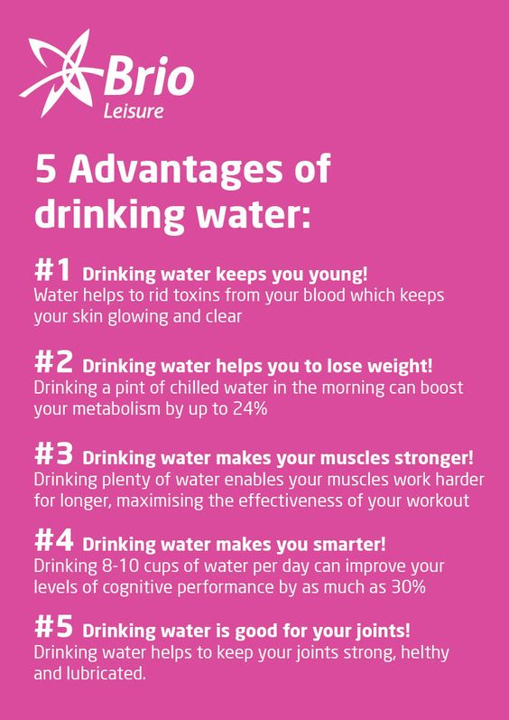 5 Advantages of drinking water - Brio Leisure #eatclean