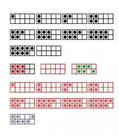 Des jeux de polices pour créer facilement et rapidement des documents de travail ou matériel de manipulation avec les cartes à points.