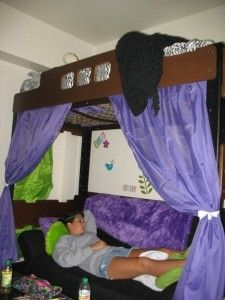 Bunk Bed Curtains Dorm And Curtains On Pinterest