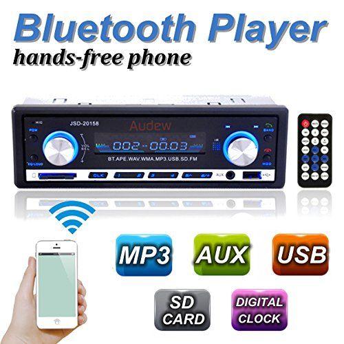 AUDEW 12V Auto Autoradio Radio Stéréo LCD Clock Bluetooth MP3 AUX WMA WAV FLAC APE USB SD FM RCA