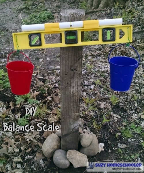 DIY Outdoor Balance Scale