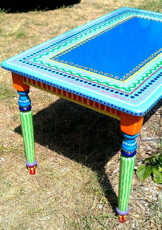 Hand Painted Furniture Wild and Crazy Custom