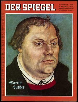 Martin luther in the magazine der spiegel 1967 for Magazin der spiegel