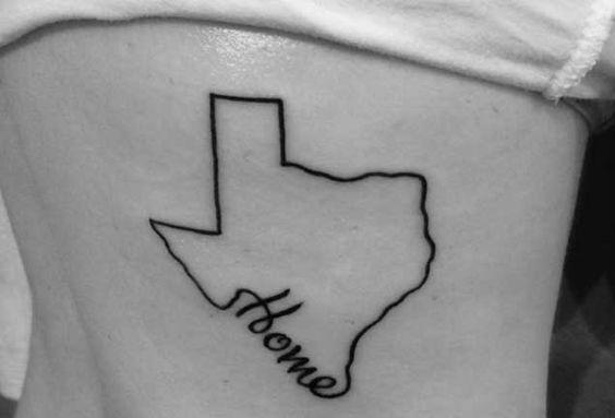 Texas is home tattoo